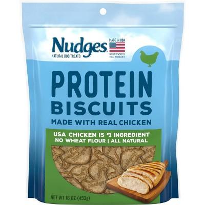 Nudges Protein Biscuit Chicken Dog Treats -16oz