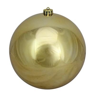 "Northlight 8"" Shatterproof Shiny Christmas Ball Ornament - Gold"