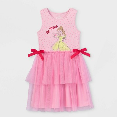 Girls' Disney Belle 'Be Mine' Dress - Pink
