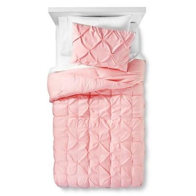 3pc Full/Queen Pinch Pleat Comforter Set Light Pink - Pillowfort™