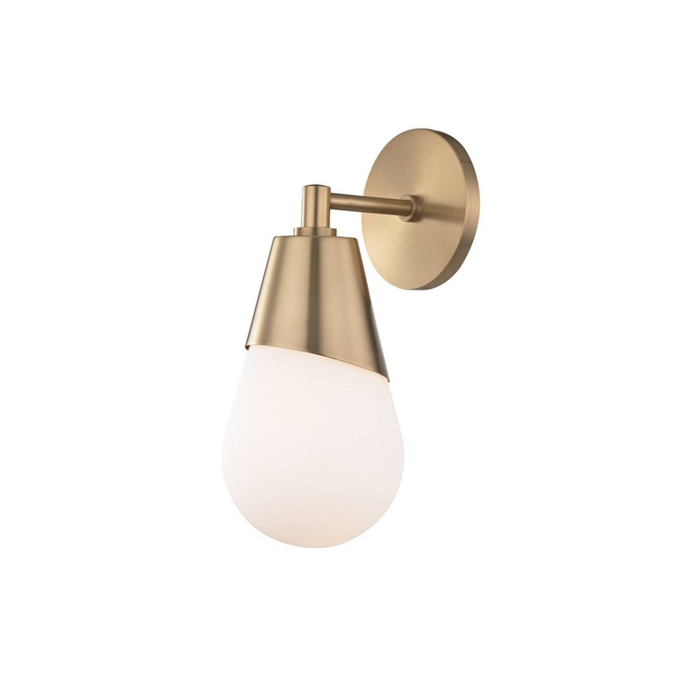 Cora 1-Light Wall Sconce Aged Brass - Mitzi by Hudson Valley Promos