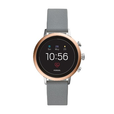 Fossil Gen 4 Smartwatch   Venture Hr 40mm Gray Silicone by Fossil