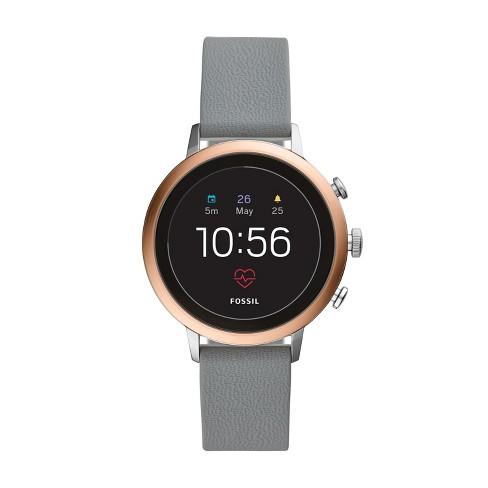 4742f7a83086 Fossil Gen 4 Smartwatch - Venture HR 40mm Gray Silicone   Target