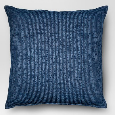 Chambray Denim Oversize Square Throw Pillow Blue - Threshold™