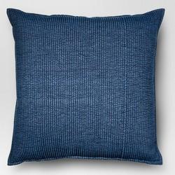 Chambray Denim Oversize Square Throw Pillow Blue - Threshold™
