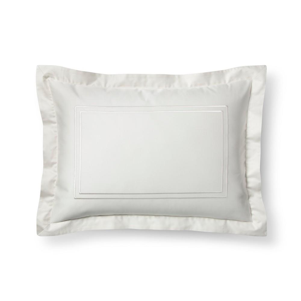 Sour Cream (Ivory) Tonal Hotel Sham (King) - Fieldcrest