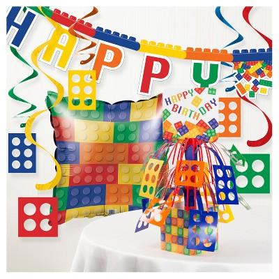 Block Birthday Party Decorations Kit