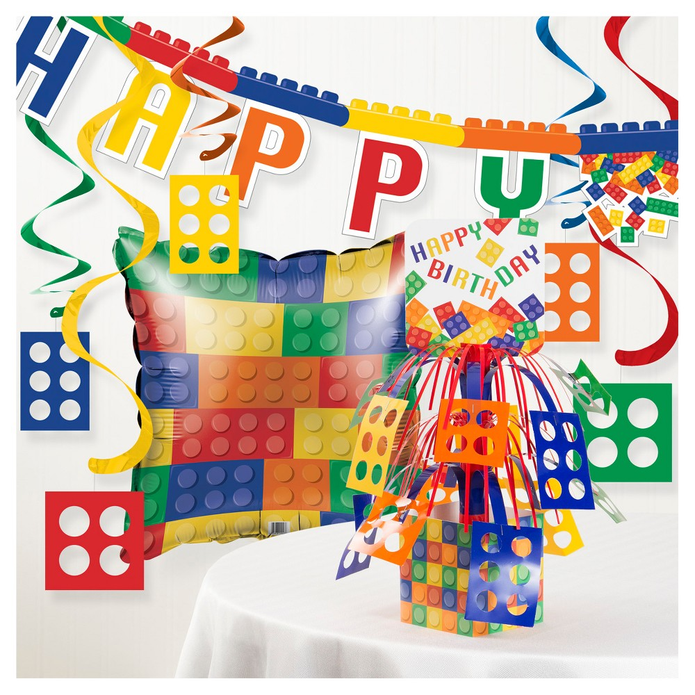 Image of Block Birthday Party Decorations Kit