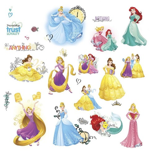 Disney Princess Friendship Adventures Wall Decals - image 1 of 1