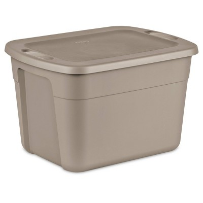 Sterilite 18gal Storage Tote Brown