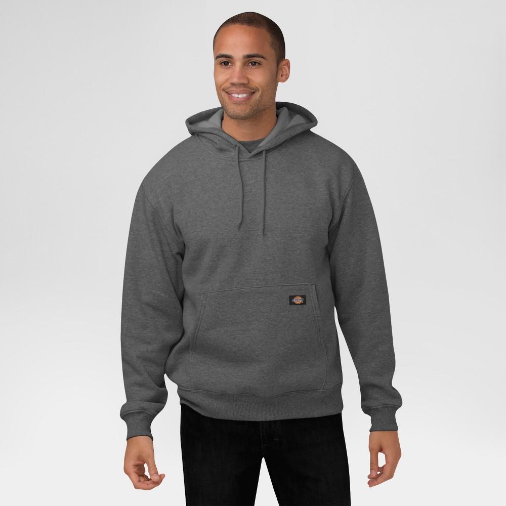 Dickies Men's Midweight Fleece Pullover Hoodie- Dark Heather Gray XL
