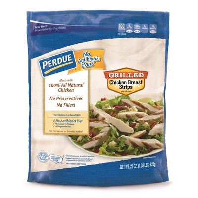 Perdue Fully Cooked No Antibiotics Ever Grilled Chicken Breast Strips - Frozen - 22oz