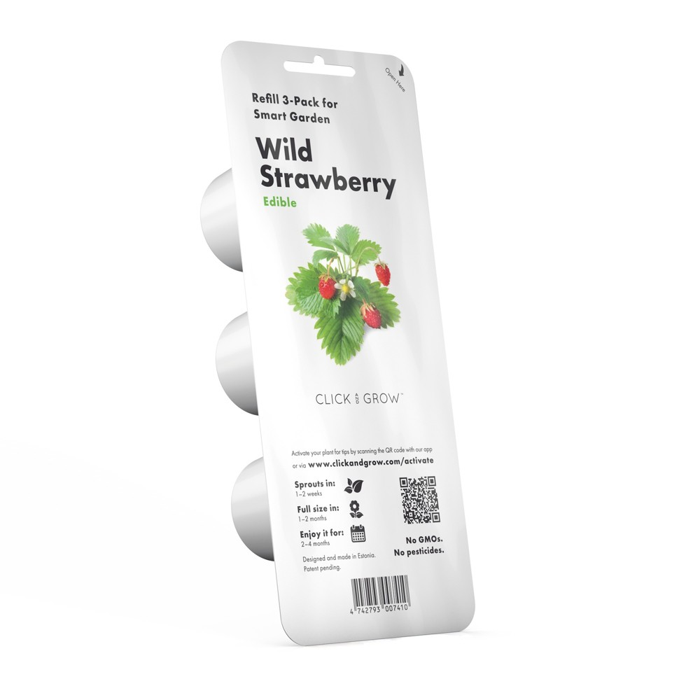 Click and Grow Smart Garden Wild Strawberry Refill 3pk