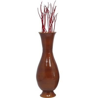 Uniquewise Tall Modern Handmade Bamboo Floor Vase