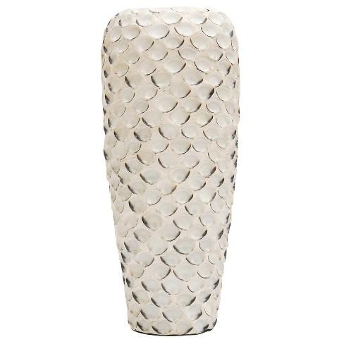 Decorative Vase - Textured - Distressed White - image 1 of 2