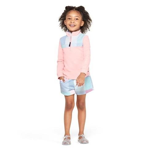 6475a222 Toddler Girls' Patchwork Whale Shorts - Pink/Blue - vineyard vines® for  Target