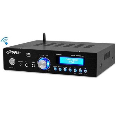 Pyle Home PDA5BU High Performance Powerful 200 Watt AM/FM Radio AUX/USB Input CD/DVD Player Wireless Bluetooth Home Stereo Amplifier System