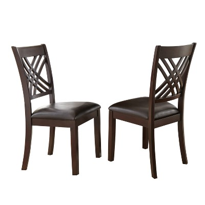 Set of 2 Hildi Side Chairs Espresso - Steve Silver