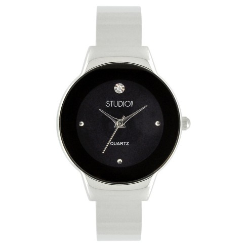 Women's Studio Time® Bangle Watch - Soft Silver - image 1 of 1