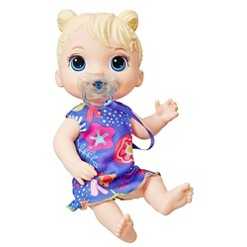 Baby Alive Baby Lil Sounds: Interactive Baby Doll - Blue Dress