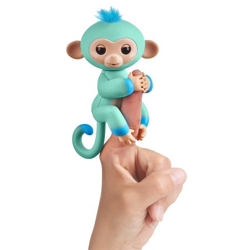 Fingerlings Interactive Monkey 2-Tone Light Blue to Blue - Eddie - image 1 of 8