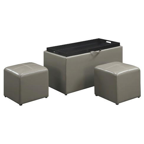 Designs4Comfort Sheridan Storage Ottoman - Convenience Concepts - image 1 of 4