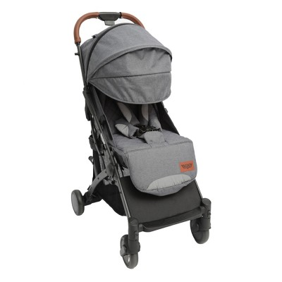 Keenz Air Plus Lightweight Compact 2 in 1 Pet and Baby Stroller Travel System with 55 Pound Capacity, Reclining Seat, Canopy, and Storage Basket, Gray