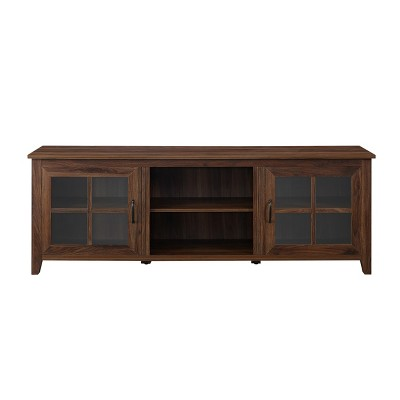 """Glass Door Console TV Stand For TVs Up To 80"""" - Saracina Home : Target"""