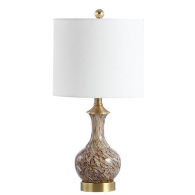 Baylor Table Lamp (Includes LED Light Bulb)Brown/Brass - Safavieh