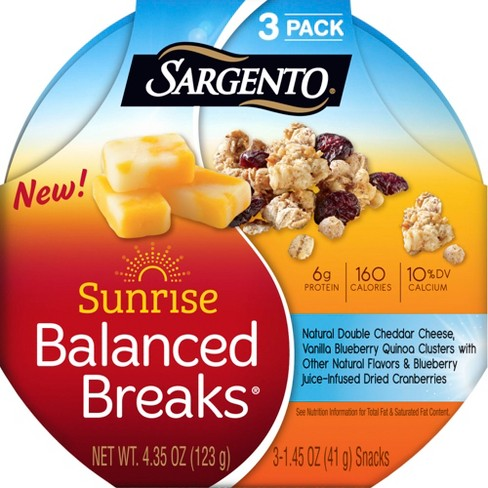 Sargento Sunrise Balanced Breaks with Cheese and Quinoa Clusters - 3pk/1.45oz Snacks - image 1 of 4