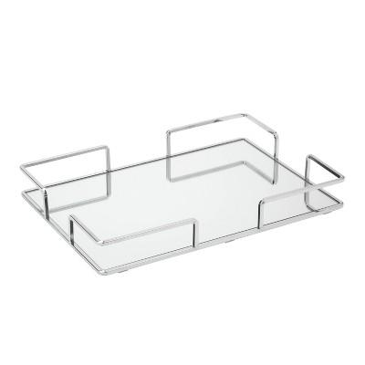 Modern Square Design Bathroom Tray Chrome - Home Details