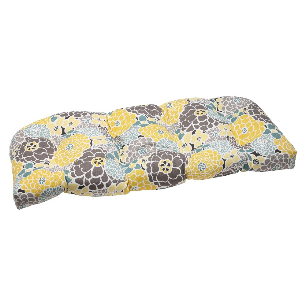 Pillow Perfect Outdoor Wicker Loveseat Cushion Lois