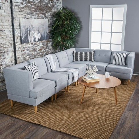 7pc Milton Sectional Sofa Set - Christopher Knight Home : Target