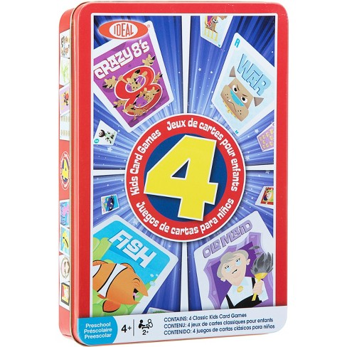 Ideal Children's 4 Card Games in Tin - image 1 of 4