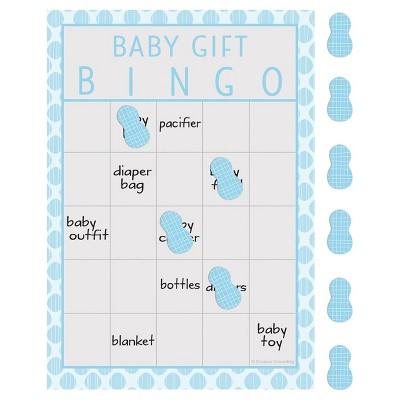 10ct Little Peanut Boy Elephant Baby Shower Bingo , Blue