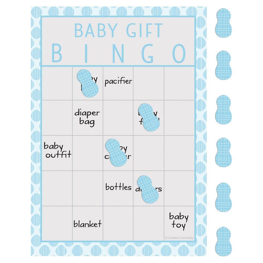 Image of 10ct Little Peanut Boy Elephant Baby Shower Bingo , Blue, Gray Blue