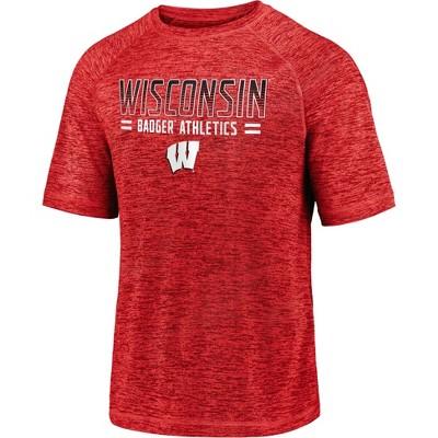 NCAA Wisconsin Badgers Men's Short Sleeve Crew Neck Team T-Shirt