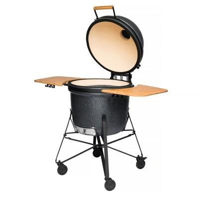 "BergHOFF 23"" Ceramic BBQ Grill, Bluestone Gray"