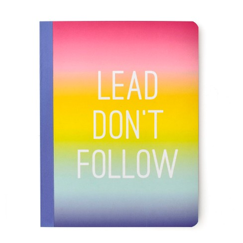 Composition Notebook Striped Lead Don't Follow - Gartner Studios - image 1 of 2