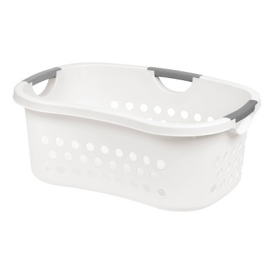 IRIS 2pk Comfort Carry Laundry Basket White