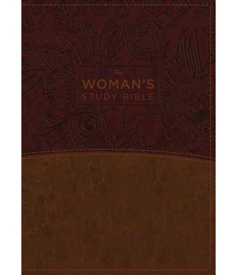 Woman's Study Bible : New King James Version, Brown/Burgundy, Imitation Leather, Full-color: Receiving - image 1 of 1