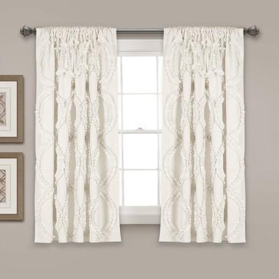 "63""x54"" Avon Window Curtain Panel White - Lush Décor"