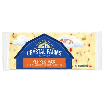 Crystal Farms Pepper Jack Cheese - 8oz