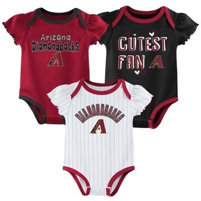 MLB Arizona Diamondbacks Baby Girls' 3pk Bodysuit Set