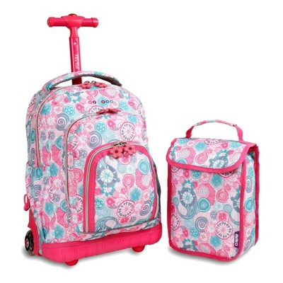 "J World 16"" Lollipop Rolling Backpack with Lunch Bag"