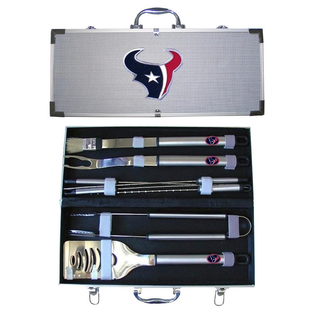 Siskiyou NFL Team 8-Piece Bbq Set with Hard Case -Houston Texans, Houston Texans