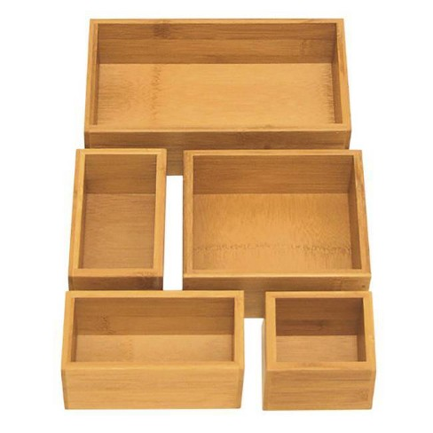 Seville 5pc Bamboo Organizer Boxes Brown (Assorted Sizes) - image 1 of 2