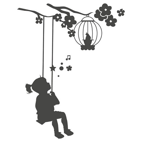 Swing Wall Decal - Black - image 1 of 2