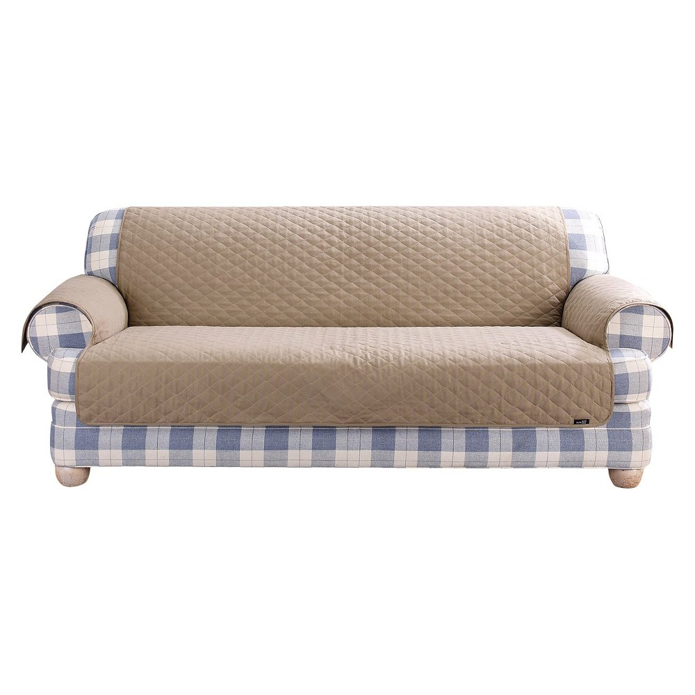 Quilted Duck Furniture Friend Pet Loveseat Cover Linen - Sure Fit