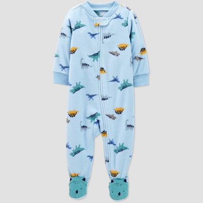 Baby Boys' Dino Fleece One Piece Pajama - Just One You® made by carter's Blue Newborn